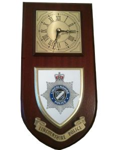 Lincolnshire Police Wall Plaque Clock